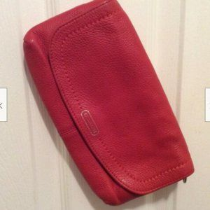 Coach Wristlet Cherry Red Leather Magnet Snap
